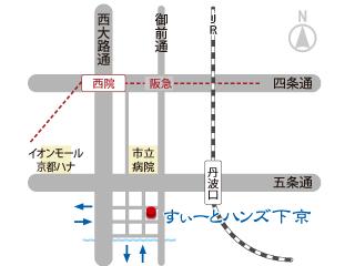すぃーとハンズ下京 地図